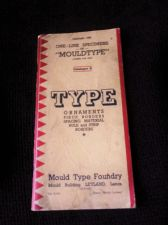 VINTAGE BOOKLET 1936 MOULDTYPE SPECIMENS CAT. D ORNAMENTS BORDERS RULE STRIP